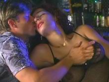 Two barmen lick tranny in nightclub