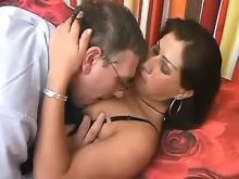 Guy fucks beautiful brunette tranny