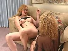 Sexy mature shemale and girl have fun