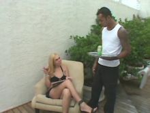 Shemale camper seduces black waiter